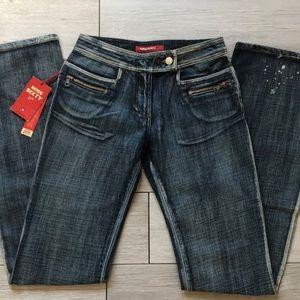 Boho Vintage Distressed Jeans Denim 25 Miss sixty